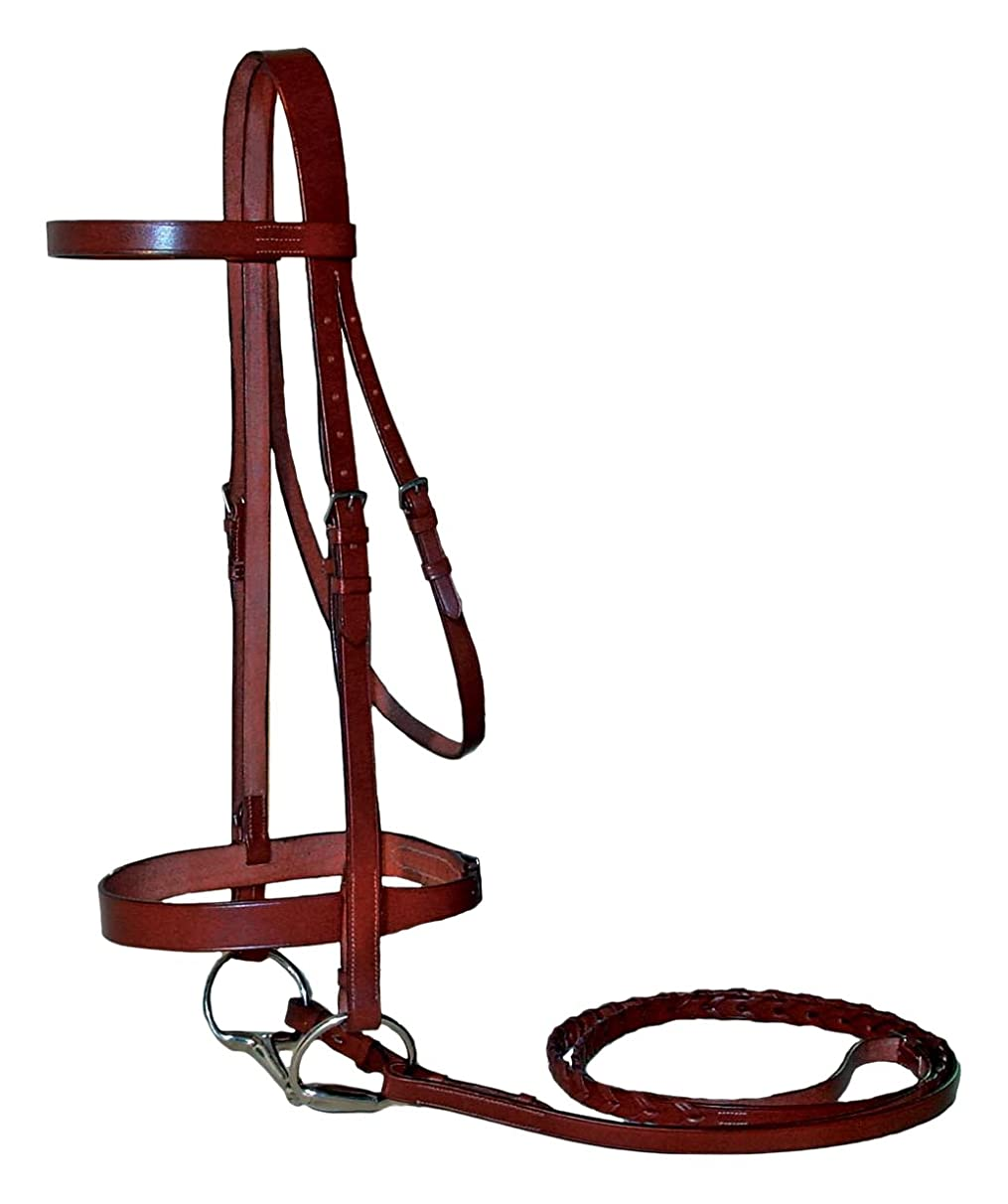 Paris Tack Heavy Duty English Hunt Bridle with 3/4