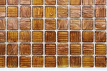 Glossy Copper Glitter Shiny Glass Mosaic Tiles for Bathroom and Kitchen Walls Kitchen Backsplashes