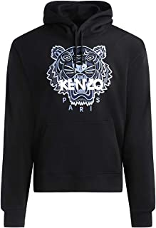 Kenzo Icon Classic Tiger Hoody (Colour : Black - Size : Large )