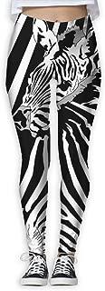XMKWI Hugs Stripes Zebras Women Power Flex Sports Yoga Pants Workout Tights Leggings Trouser