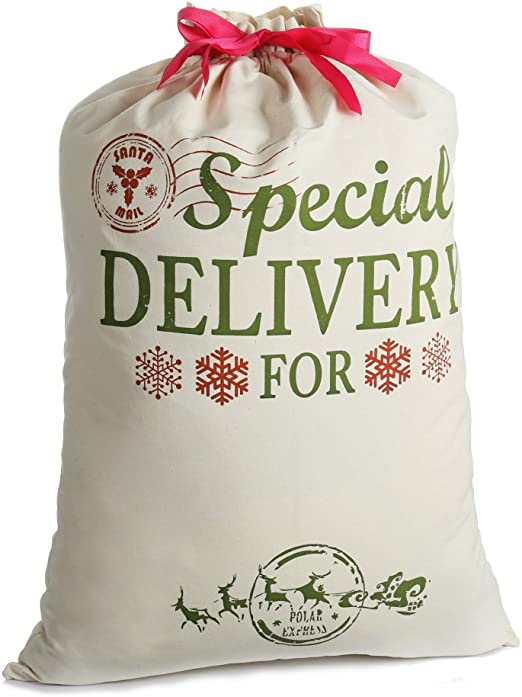 santa canvas bag XXL Personalized Canvas Santa Sack personalized santa sack christmas bag x-large XL santa bag bag santa bag