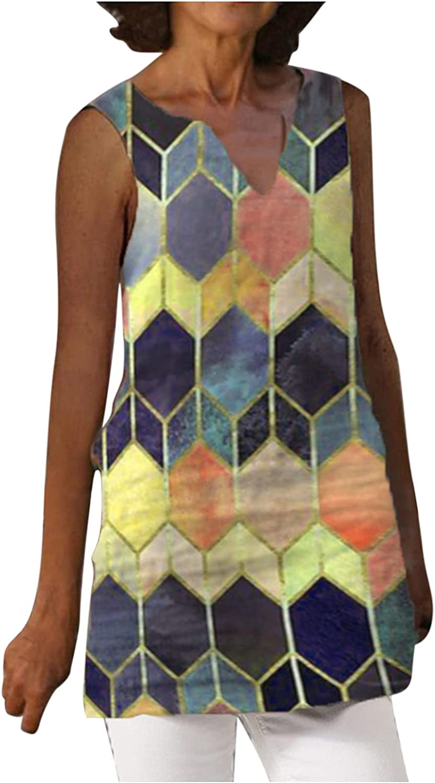Summer Dresses,Women's Linen Dress Boho Floral Beach Dress Sleeveless Sundress Casual Shirt Dress Tank Dress