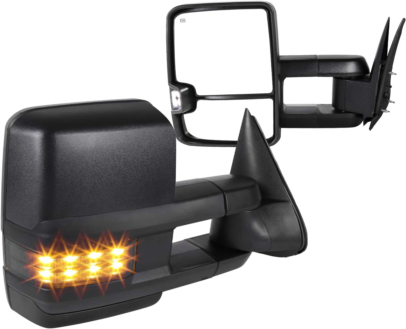 Spec-D Tuning Facelift Style Power + Heated Towing Mirrors + Led