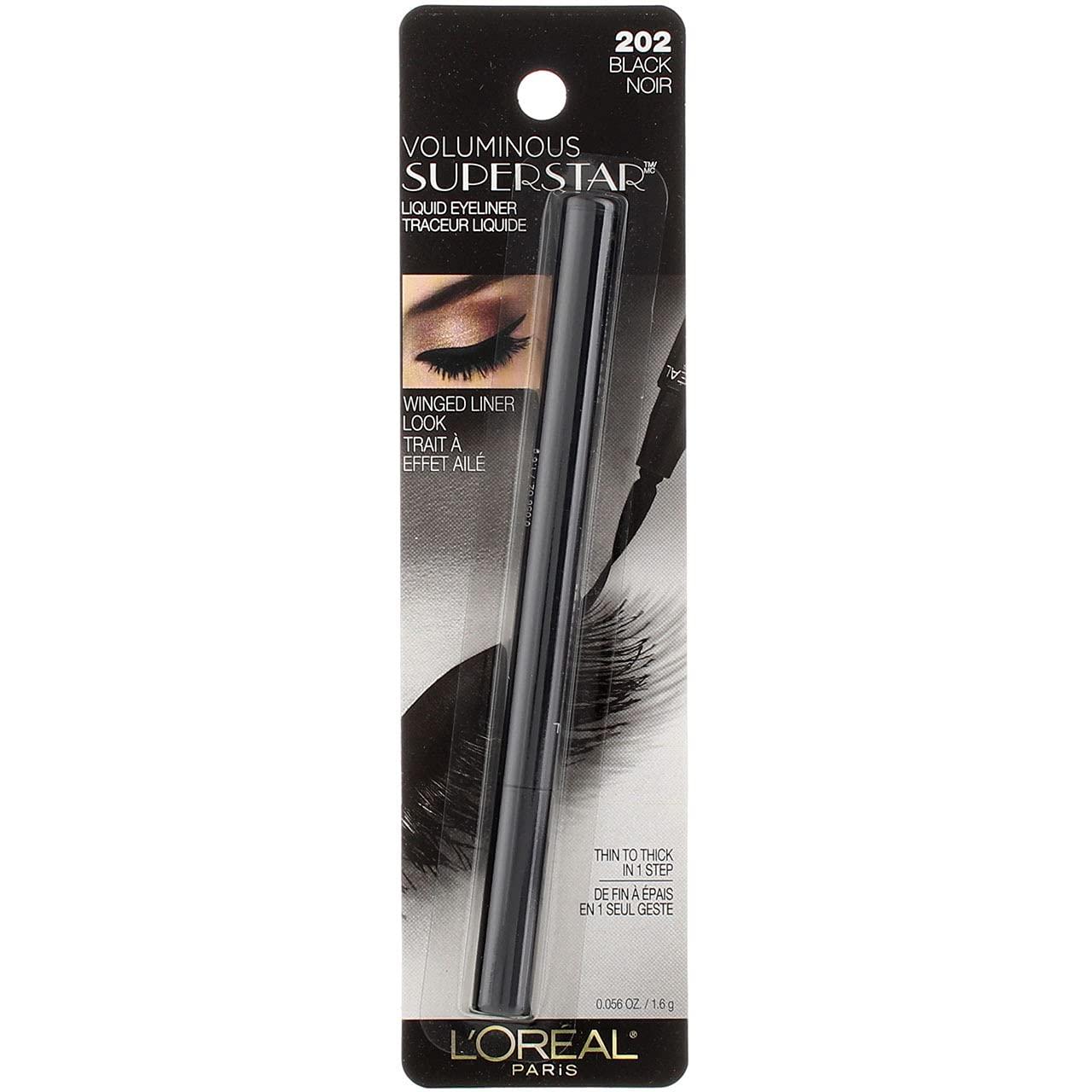 Loreal Paris Voluminous Superstar Black Eyeliner - 2 per case.