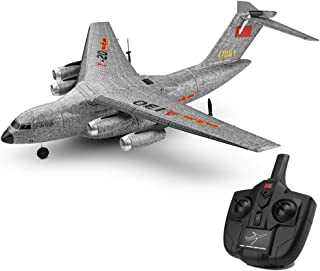 ErYao XK A130 RC Channel Remote Control Airplane, Y-20 Model Military Transport Aircraft 3CH RTF Glider RC Airplane, 360°Flip Wingspan Plane Drone Flying Aircraft for Indoors/Outdoors, US Stock