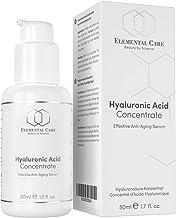 Serum de Acido Hialuronico Puro Vegano 50ml-Mascarilla Facial de Antiedad-Crema Antiarrugas para Mujer, Serum Facial y para el Contorno de Ojos-Halal-Hecho en Alemania
