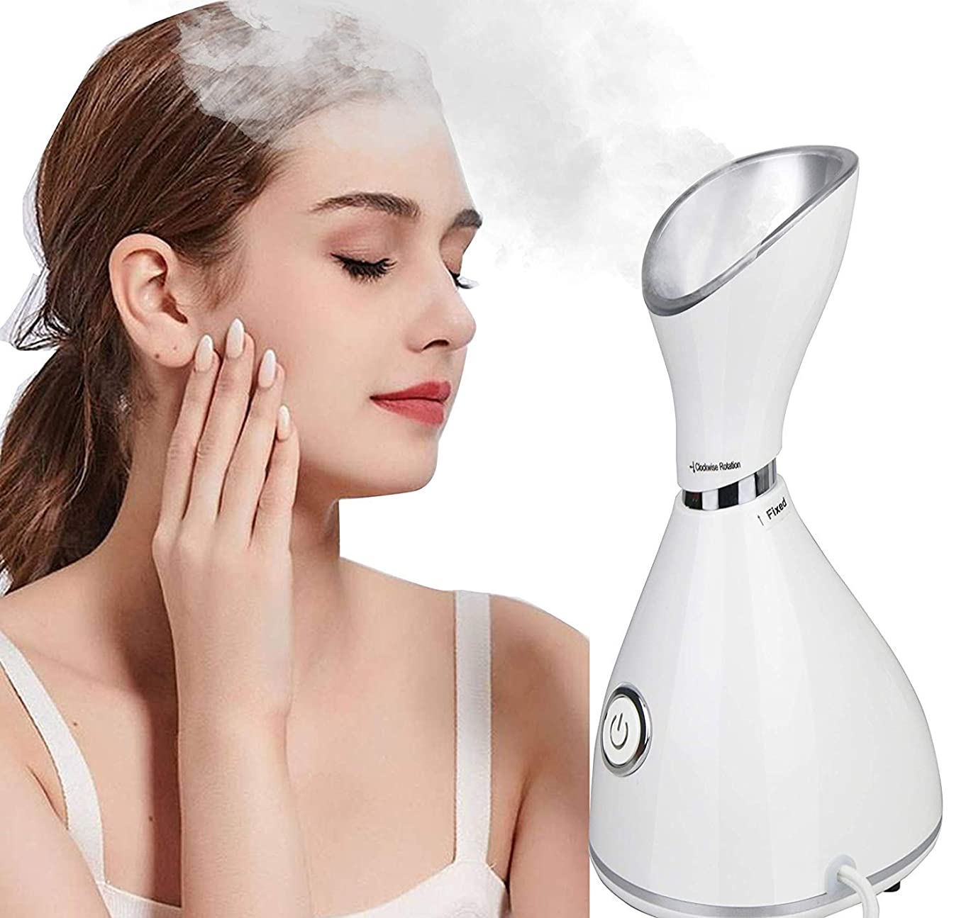 顔の蒸気の保湿のナノイオン噴霧器の水和の熱い霧、お肌のクリーニング、加湿器用スチームマスク、取り外し 予防、ホームサロンサウナスパパーソナルボディスキンケア美容 Facial Steamer Moisturizing Hydrating Face Cleanse Humidifier
