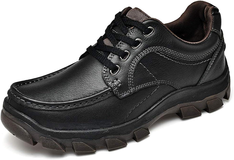 Ruanyi Herren Fashion Oxford Casual Air Cushioning Cushioning Comfortable Outsole Schnürung Outdoor Schuhe, Schwarz, 42,5