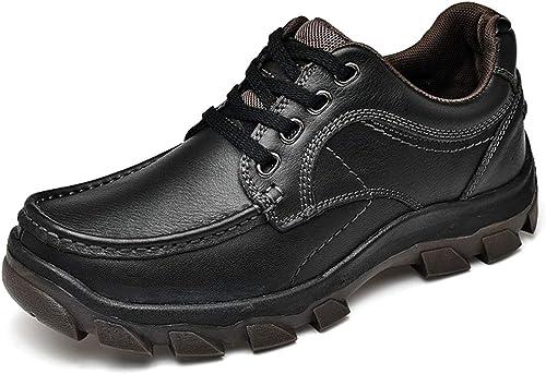 JIALUN-des Chaussures Mode Masculine Oxford Perfunctory Perfunctory Air Cushioning Confortable Semelle Extérieure Chaussures à Laçage (Couleur   Noir, Taille   42 EU)  bien vendre partout dans le monde