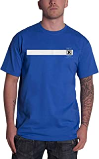 Queens of the Stone Age T Shirt Rated R Band Logo Official Mens Blue