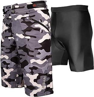 The Shredder Camo - Pantalones cortos de ciclismo para hombr