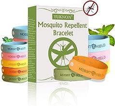 TUKNON Repelentes de Mosquitos, Pulseras Antimosquitos, Pulseras Repelentes de Mosquitos, 15 Piezas Bandas repelentes de Insectos y Fallos, 100% Naturales, Ajustables para Bebés y Adultos