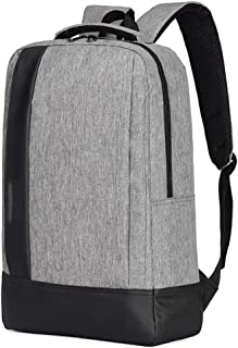 YXLZZO Solid Color Backpack Outdoor Travel Business Bag Waterproof Backpack, Unisex Oxford Backpack (Color : Gray)