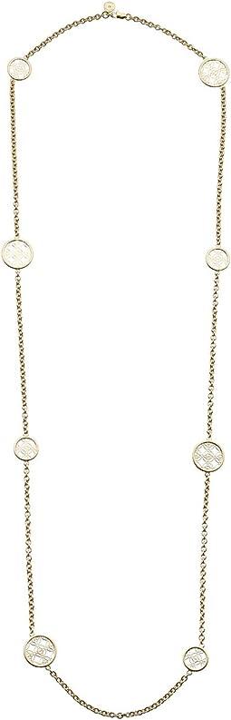 Monogram Disc Station Necklace
