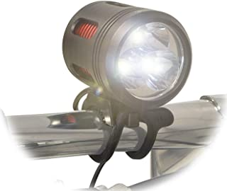 Lumintrail 3000 Lumen Mountain Road LED Bicycle Headlight Set with Rechargeable Battery Pack Includes Helmet Strap for Hiking Camping