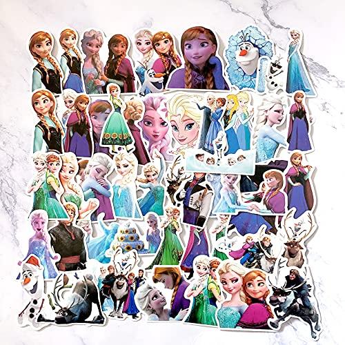 ZNMSB 50 películas de Dibujos Animados Frozen Graffiti Pegatinas Maleta monopatín Carro teléfono Pegatinas Impermeables
