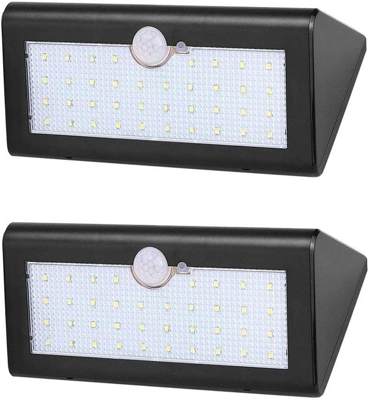 XUENUO Solarlampen für Auen, 38 LED Leuchte mit Bewegungsmelder 120 ° 3 Modi Beleuchtung 4400mAH Druckknopfschalter wasserdichte Wandleuchte Geeignet für Garten Hof Treppen Garage Warmes Licht
