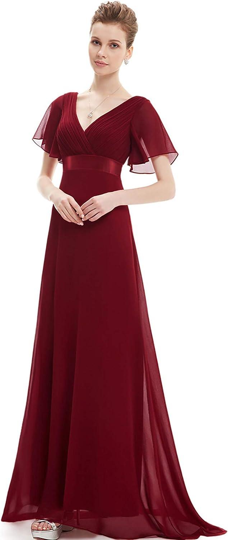 EverPretty Women's Short Sleeve VNeck Long Evening Dress 09890