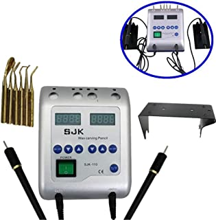 Calentador de cera Waxer eléctrico dental Talla doble Pen Pencil Carver encerado con 6 consejos por Hansemay