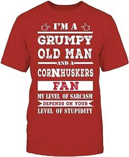 FanPrint Nebraska Cornhuskers Hoodie - Grumpy Old Man
