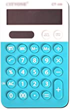 $20 » Calculator Electronic Desktop Calculator with 12 Digit Large Display, Solar Battery LCD Display Office Calculator,Blue Dai...