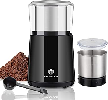 DR MILLS DM-7451 Electric Dried Spice and Coffee Grinder,detachable cup, OK for clean it with water, Blade & cup made with SU