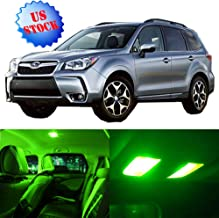 Interior LED Lights Green Replacement for 2009-2017 Subaru Forester Accessories Package Kit 11Pcs