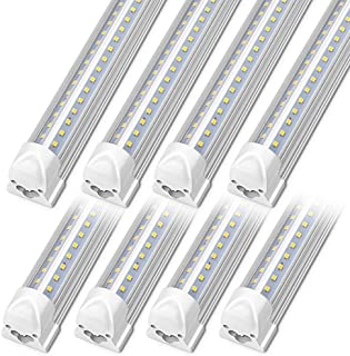 Kihung 3FT LED T8 Integrated Light Fixture, V Shape Tube Light, 36W, 4680lm, 6000K, Linkable LED Shop Light Fixture, 3 Foo...