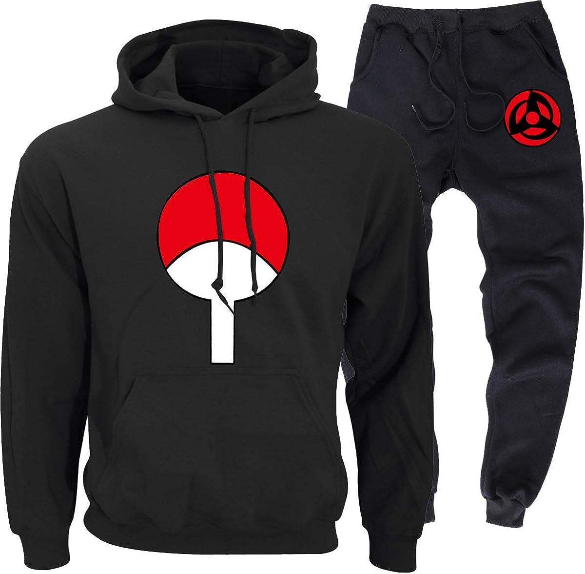 LWJNB Naruto Unisex Herren Jogginganzug Freizeitanzug Hausanzug Trainingsanzug Sportanzug