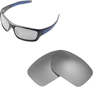 Walleva Replacement Lenses for Oakley Turbine Sunglasses - Multiple Options Available