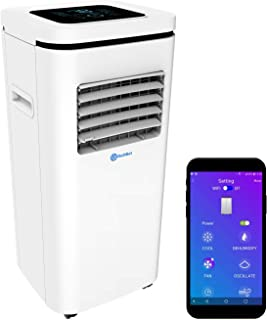 ROLLICOOL Alexa-Enabled Smart Portable AC 10,000BTU — Cool Rooms up to 275 sq ft, Control w/Alexa Voice Commands, Dual-Ban...