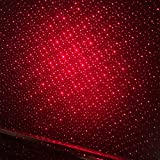 Red Car Interior Decorative Roof Lamp Projector LED Atmosphere Ambient Star Light Kit