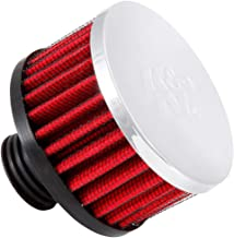 K&N 62-1511 Vent Air Filter / Breather: Vent Air Filter/ Breather; 1 in (25 mm) Flange ID; 2.5 in (64 mm) Height; 3 in (76 mm) Base; 3 in (76 mm) Top