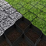 Standartpark 4 inch Thick Geo Grid Ground Grid Polyethylene 1885 LBS per sq ft Strength, for Landscaping, Parking Lots, Heavy Load Resistance