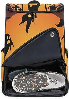 DEZIRO - Mochila para ordenador portátil, diseño de gato negro asustado por Ghost