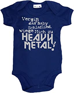 BODYSUIT KURZARM//LANGARM METALLICA 11 HEAVY METAL FUN BABY BLACK  BODY
