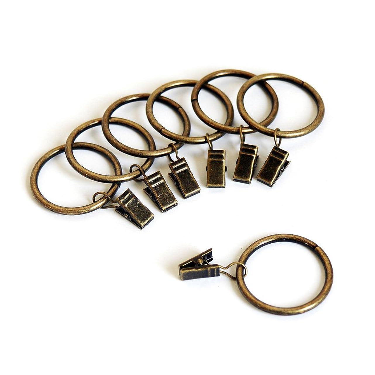 パテどっちソケット(2.5cm, Bronze) - Alytimes 42pack Bronze Metal Curtain Rings with Clips (2.5cm, Bronze)