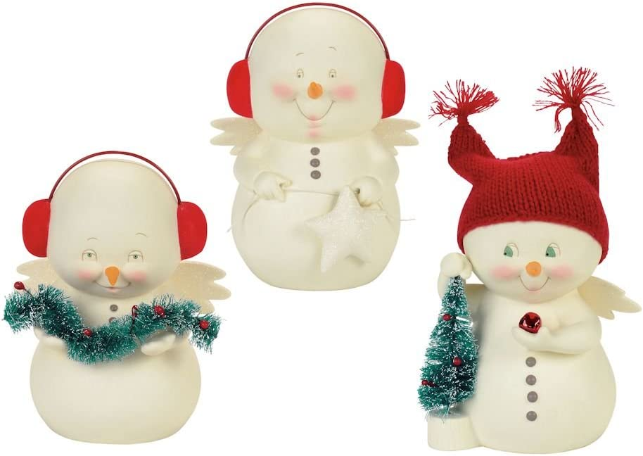 """Department 56 Snowpinions Max 84% OFF 2021 """"Decorating 3 Porc The Tree"""""""