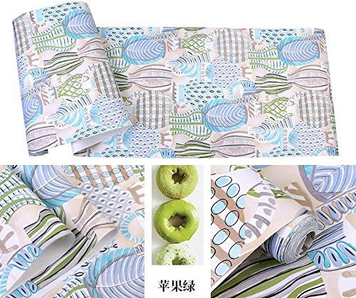 Handbeschilderde vaas bladeren kunst niet-geweven landelijke stijl behang, Ins woonkamer slaapkamer achtergrond muur papier B