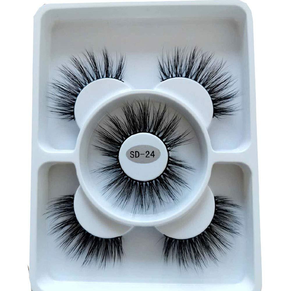 AMSDCN 2021 New 3 pairs natural lashes Outstanding Sale false fake long eyelashes