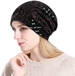 YLNNB Pattern Five Stars Knitted Hat Thin Section Hats Woman Letter Summer Ventilation Package Head Cap Pullover Scarf Hat