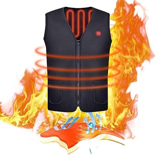 Kaysa-BT Gilet chauffé, USB chargeant Chauffe-Corps Chauffant électrique de Dow, vêteHommests Chauds Chauffants lavables pour Le Camping extérieur, Ski de vélo