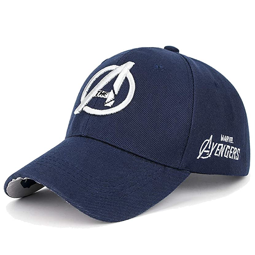 Marvel Unisex Baseball Cap with Raised Embroidered Logo Printing on Hat