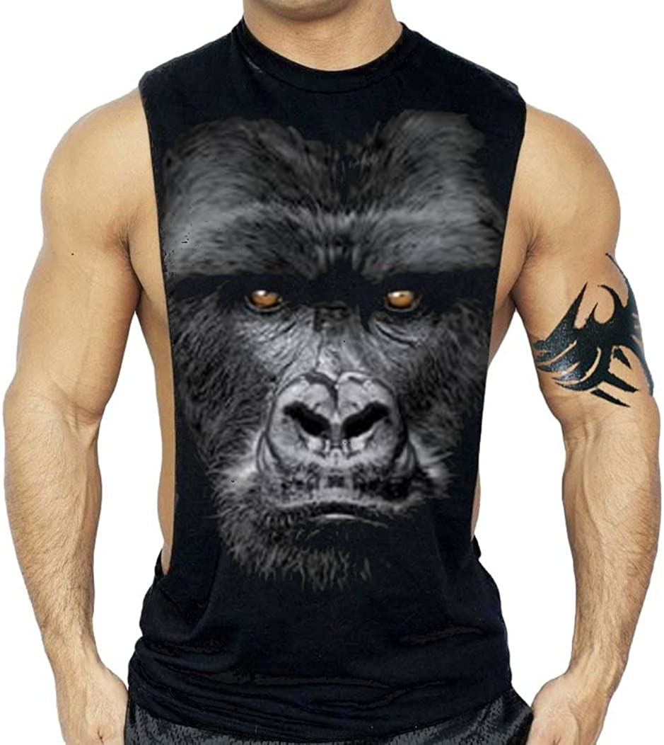 Gorilla A surprise price is realized Face Don't miss the campaign Workout T-Shirt Bodybuilding Top Black Tank