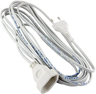 Verlängerungskabel Verlängerung 1-fach Strom-Kabel Euro-Stecker 10,0 Meter 1-Fach, Weiss