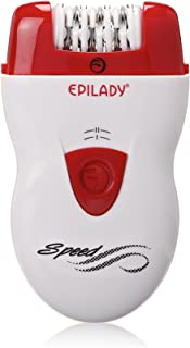 Epilady Speed Corded Epilator, White/Red