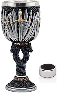 Medieval GOT Swords Chalice Goblet D&D Game Dragon Gifts Iron Throne Chalice Cup Merchandise Drinking Vessel with Wine Dri...