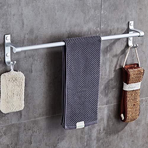 Espacio de toalla de aluminio Toalla de doble Polar Barra de toalla Cuarto de baño Toalla Colgante Colgante Colgante-60 cm