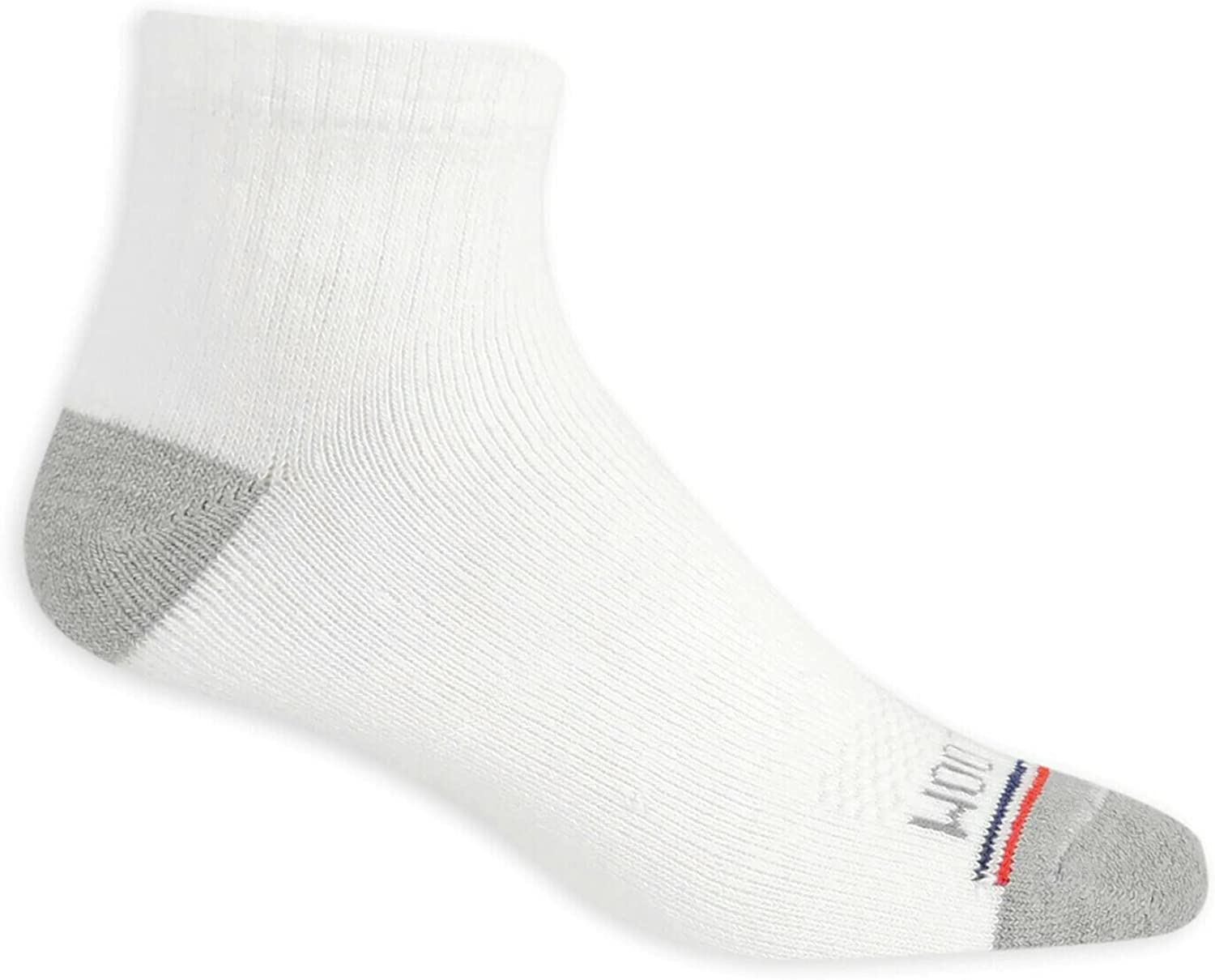 Fruit of the Loom Mens EverSoft Cushioned Cotton Ankle Socks 20 Pack, 13-15