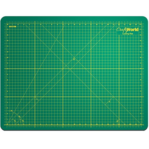 Professional Self Healing Cutting Mat; Green 18x24 Inches Tear Resistant 3mm Thick - Non-Slip Double Sided Heavy Duty Rotary Mat with Clear Accurate Measurements and Angles Suitable for Arts & Crafts